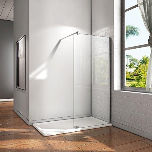 Mampara ducha Panel Pantalla Fija cristal 8mm templado para baño (70x200cm)